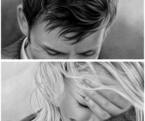 art, b&w, and billie piper image