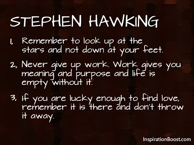 Stephen Hawking Life Quotes Inspiration Boost Inspiration Boost