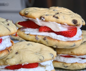 Cookies, delicious, and strawberries image