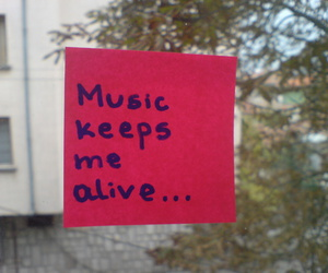 me, music, and alive image