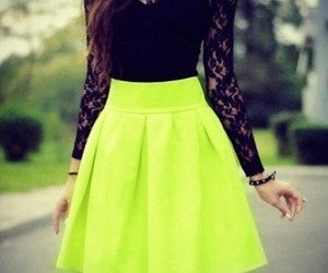 neon, outfit, and black image