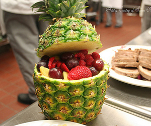 fruit, pineapple, and strawberry image