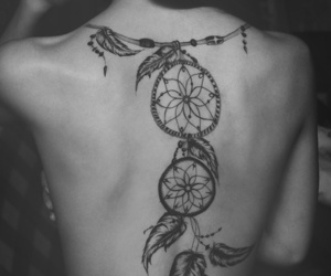 black and white, Dream, and dreamcatcher image