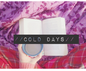 books, chocolate milk, and cold image