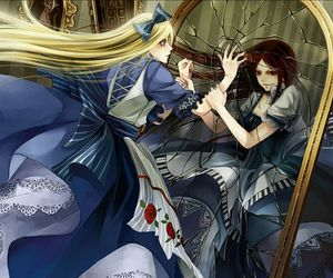 alice, alice in wonderland, and mirror image