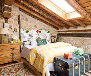 home, bedroom, and rustic image