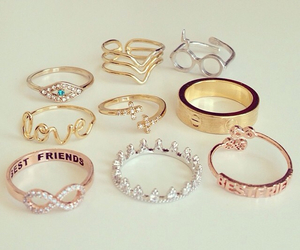 best friends, fashion, and gold image