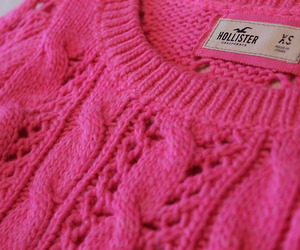 pink, hollister, and sweater image