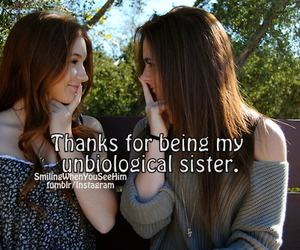 best friends, thanks, and unbiological sister image