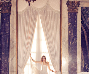 girl, curtains, and model image