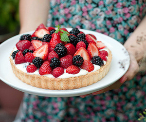 food, fruit, and pie image