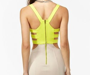 back, fashion, and neon image