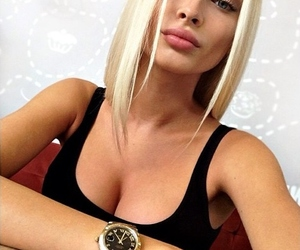 blonde, model, and pretty image