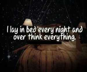 night, bed, and quote image