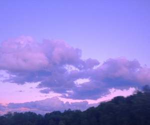 beautiful, clouds, and girl image
