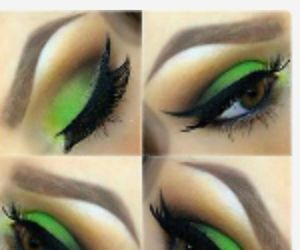 green and makeup arch eyebrows image