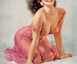 50s, Pin Up, and smile image