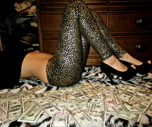 money, girl, and sexy image