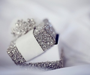 glitter, silver, and christmas image