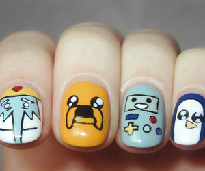 bmo, nails, and adventure time image