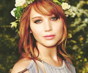 Jennifer Lawrence and flowers image