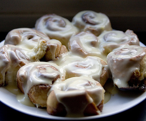 cinnamon buns, food, and photography image