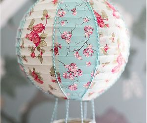 hot air ballon and shabby chic image