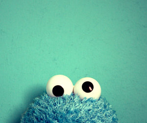 cookie monster, blue, and monster image
