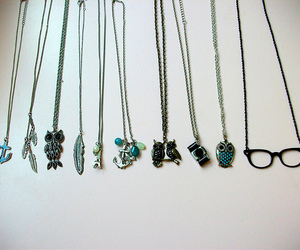 forever 21, necklaces, and owl image