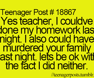 funny, murder, and teacher image