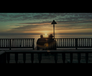 benjamin button, movie, and sunset image