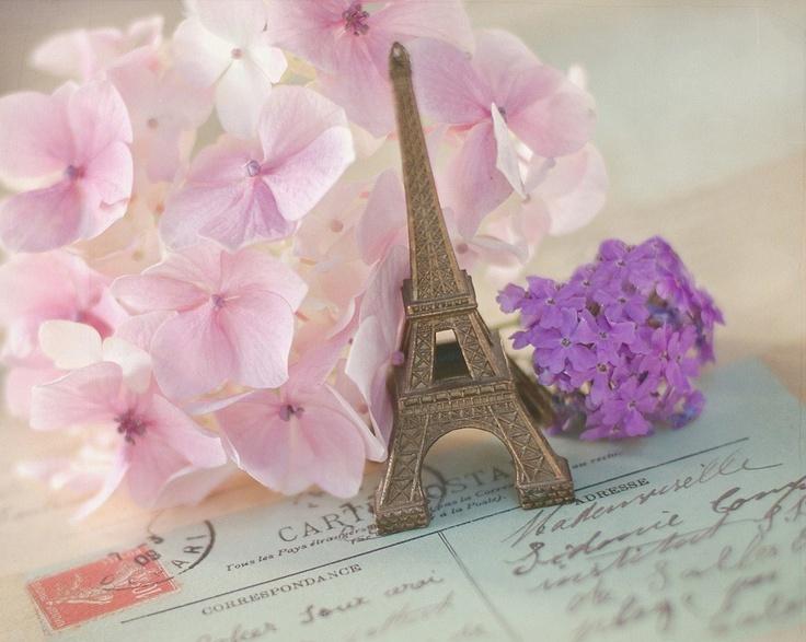 Открытки париж с цветами