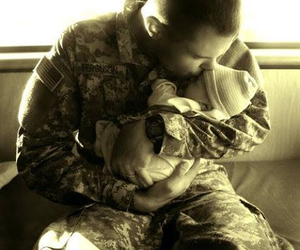love, army, and baby image