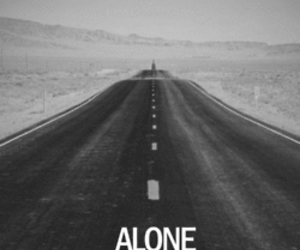 alone, road, and sad image