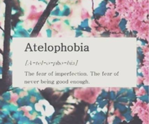 fear, imperfection, and atelophobia image
