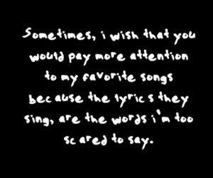 song, Lyrics, and quote image