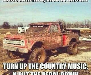 country, mud, and music image