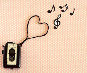 heart, music, and recorder image