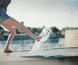 girl, water, and legs image