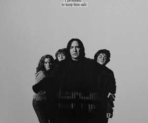 harry potter, severus snape, and hermione granger image
