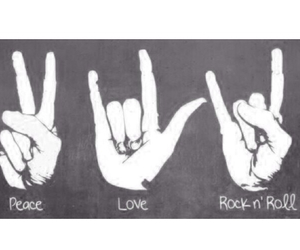 peace, love, and hands image