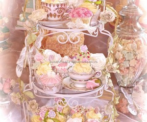 cake, colours, and cupcake image