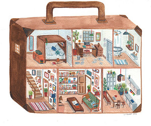 bags, home decor, and illustrations image