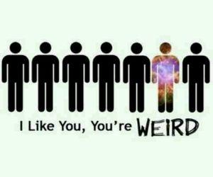 weird, like, and people image