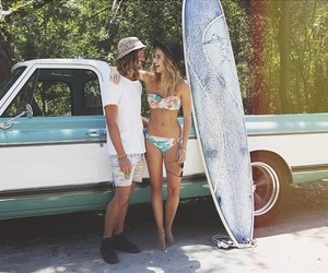 surf, couple, and summer image