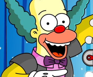clown, Krusty, and game image