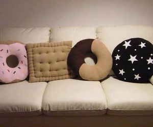 pillow, donuts, and biscuits image