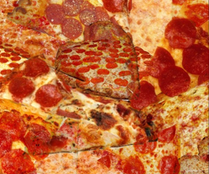 background, food, and pizza image