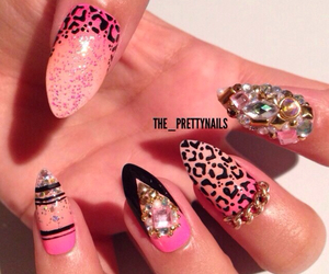 cheetah, crystals, and manicure image