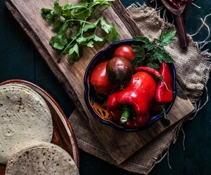 food, vegetables, and chilies image